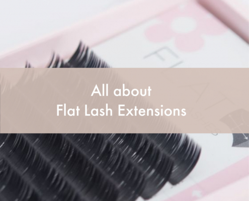 all about flat lash extensions